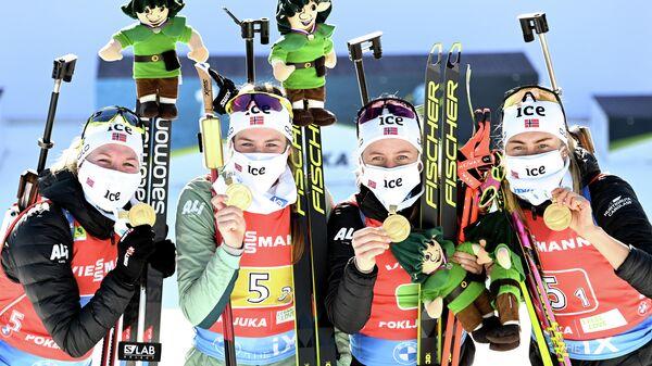 Марте Олсбю-Ройселанд, Ида Лиен, Тириль Экхофф и Ингрид Тандревольд (слева направо)