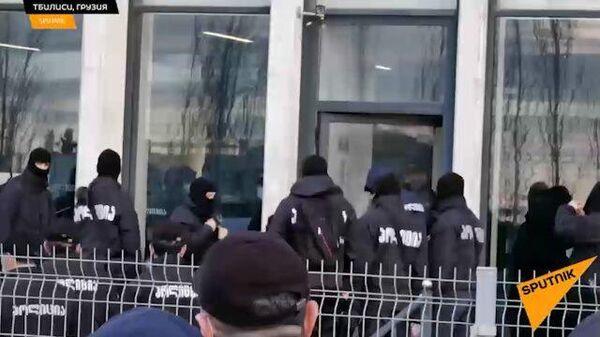 Кадры ареста лидера грузинской оппозиционной партии Единое национальное движение Ники Мелии