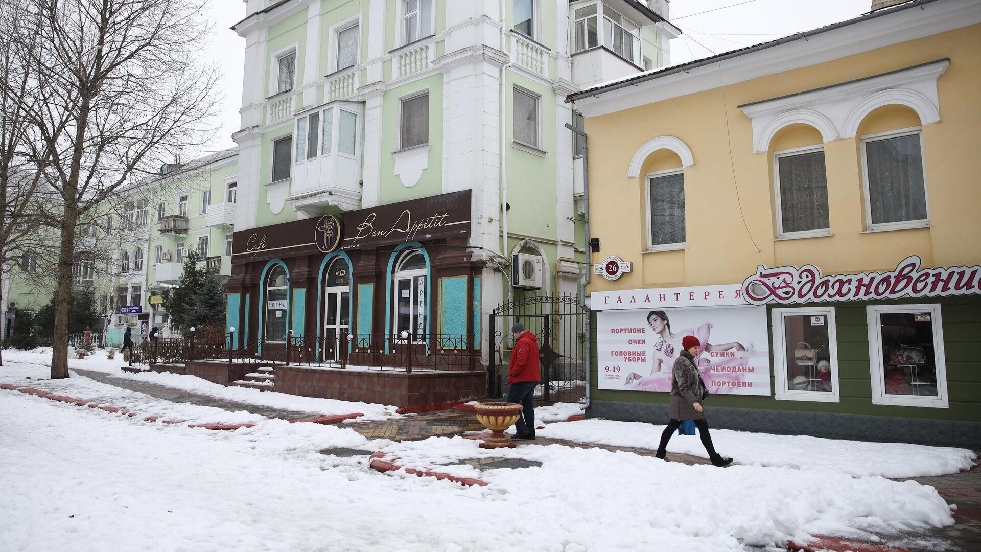 Прохожие на улице Ленина в городе Керчь - РИА Новости, 1920, 26.02.2021