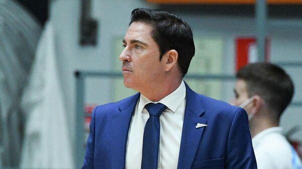 Главный тренер Зенита Хавьер Паскуаль во время матча 27-го тура регулярного чемпионата мужской баскетбольной Евролиги сезона 2020/2021 между БК Зенит (Санкт-Петербург, Россия) и БК Альба (Берлин, Германия).