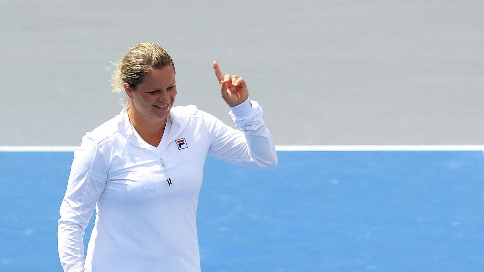 WHITE SULPHUR SPRINGS, WEST VIRGINIA - AUGUST 02: Kim Clijsters of the New York Empire reacts during the finals of the World TeamTennis at The Greenbrier on August 02, 2020 in White Sulphur Springs, West Virginia.   Streeter Lecka/Getty Images/AFP (Photo by STREETER LECKA / GETTY IMAGES NORTH AMERICA / Getty Images via AFP) - РИА Новости, 1920, 04.03.2021