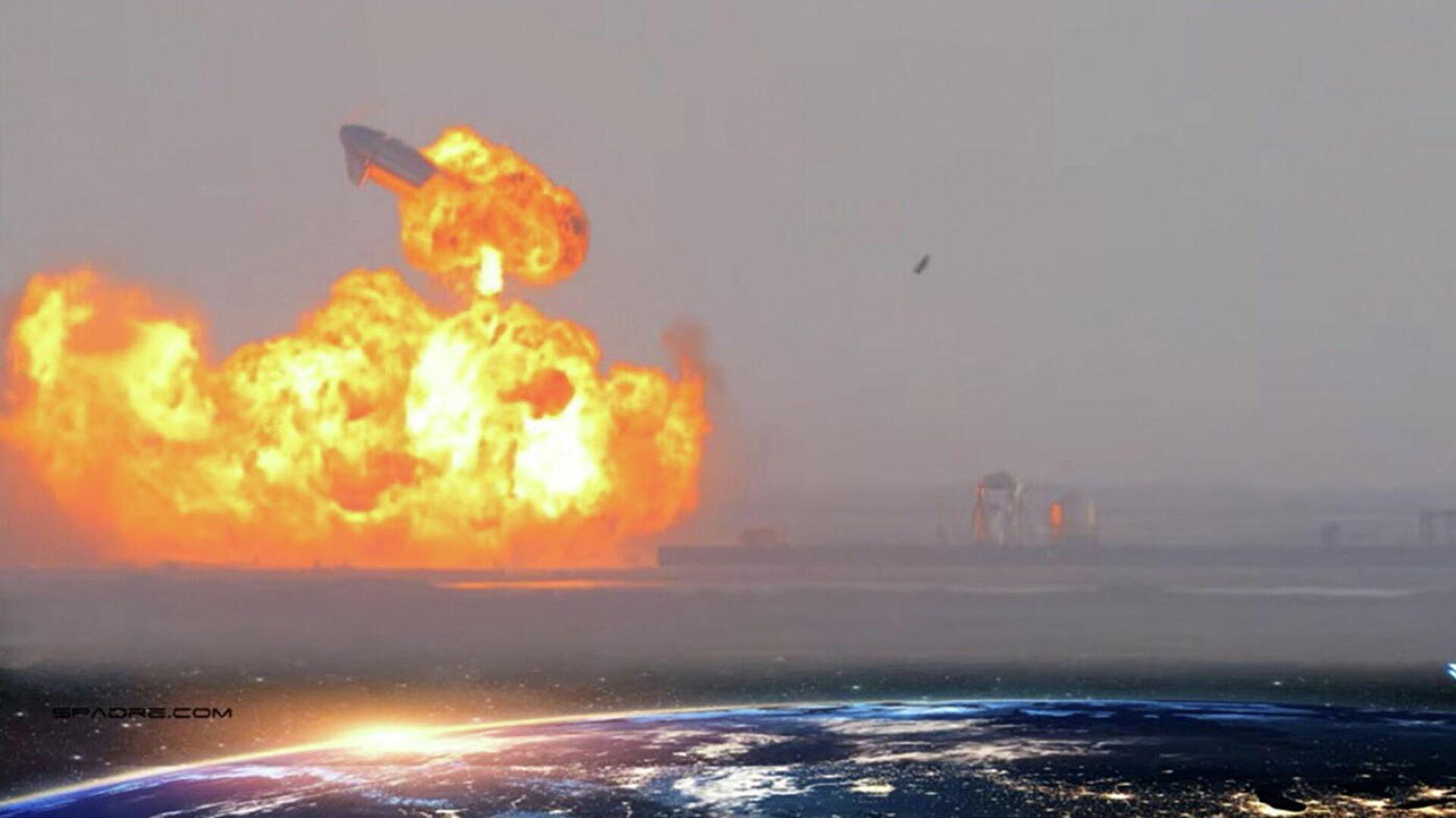 Прототип корабля Starship SN10 компании SpaceX взорвался после посадки - РИА Новости, 1920, 04.03.2021