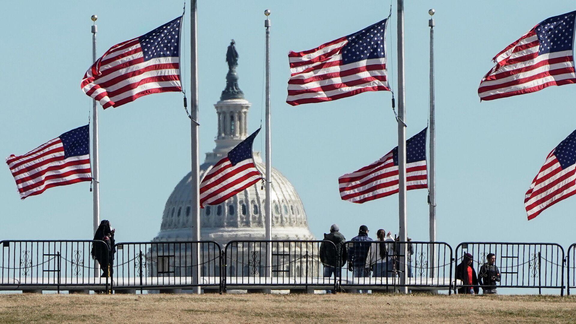 Флаги США в Вашингтоне - РИА Новости, 1920, 05.03.2021