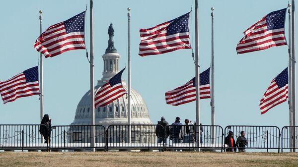 Флаги США в Вашингтоне