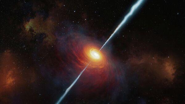 Художественное представление квазара P172+18