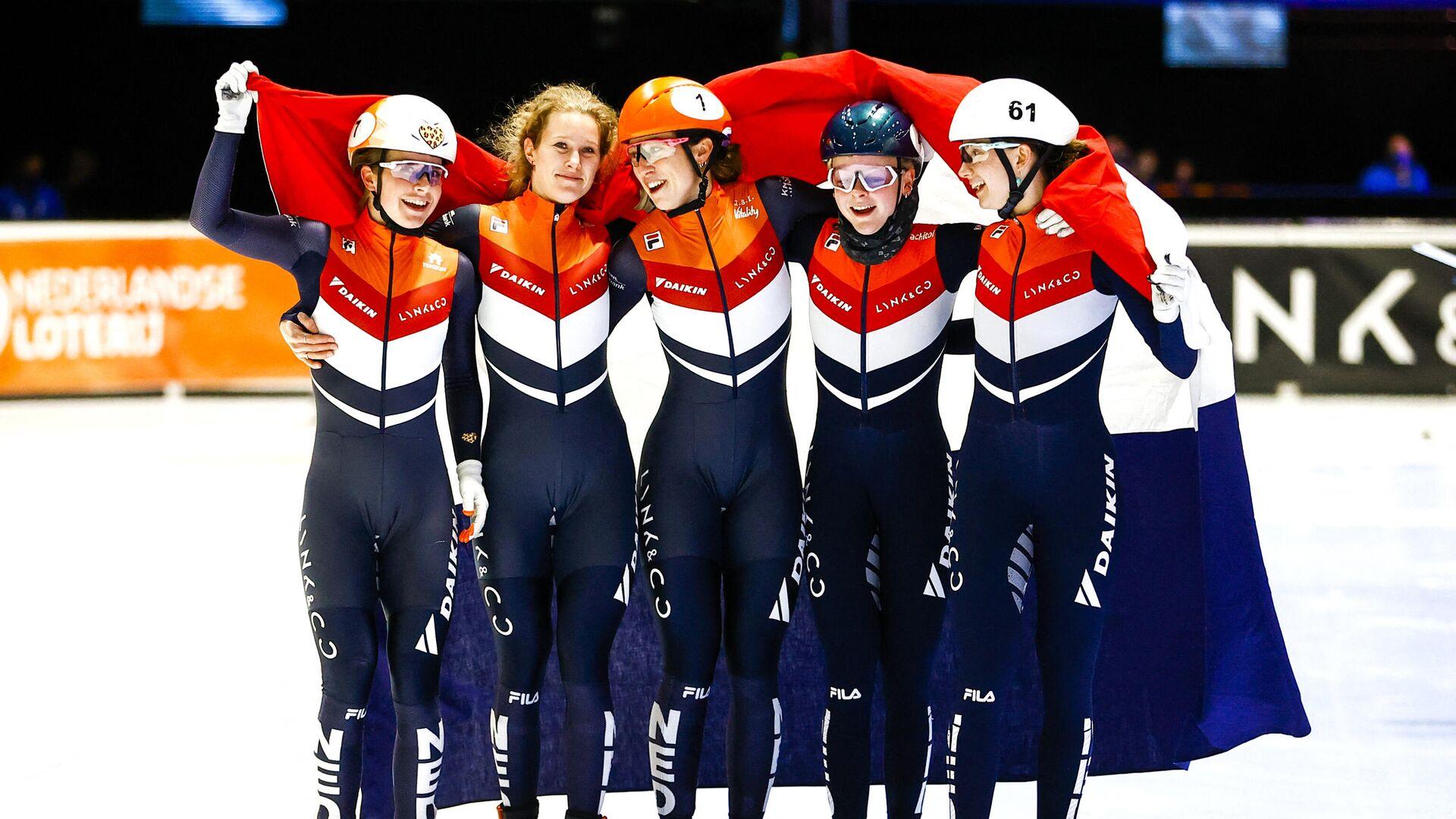 Женская сборная Голландии по шорт-треку - РИА Новости, 1920, 07.03.2021