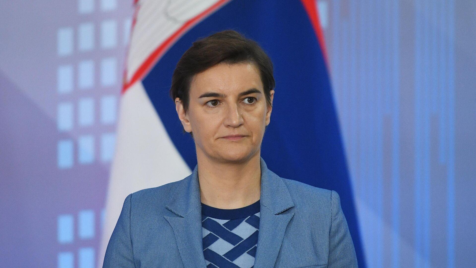 Премьер-министр Сербии Ана Брнабич - РИА Новости, 1920, 08.03.2021