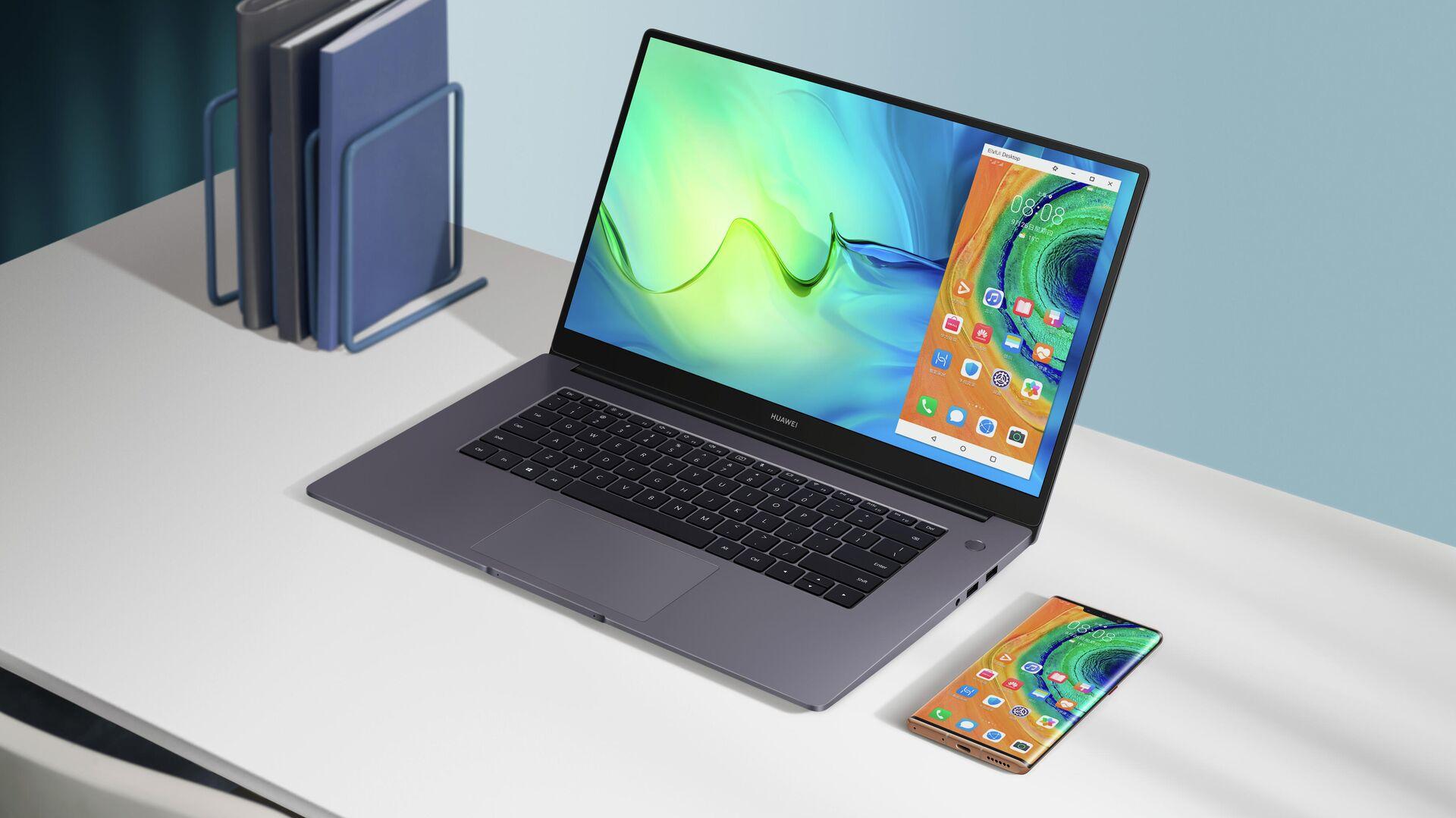 Лэптопа от Huawei MateBook D 15 - РИА Новости, 1920, 09.03.2021