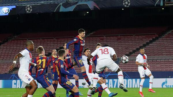 Игровой момент матча Пари Сен-Жермен — Барселона