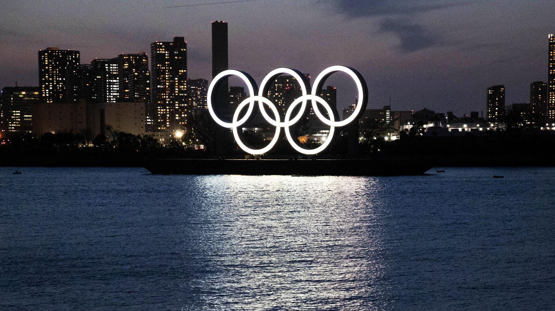 Олимпийские кольца в Токио - РИА Новости, 1920, 10.05.2021
