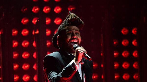 The Weeknd на ежегодной премии Grammy music Awards в Лос-Анджелесе