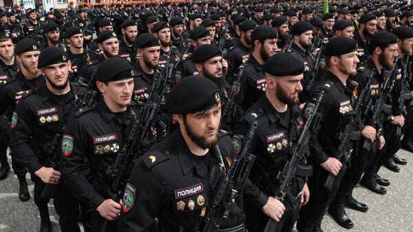 Бойцы полка специального назначения имени Ахмата Кадырова