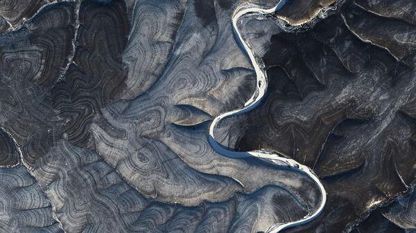 Река Марха в Якутии. 29 октября 2020. Снимок со спутника