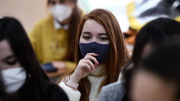 Студентка Уральского горного университета в Екатеринбурге