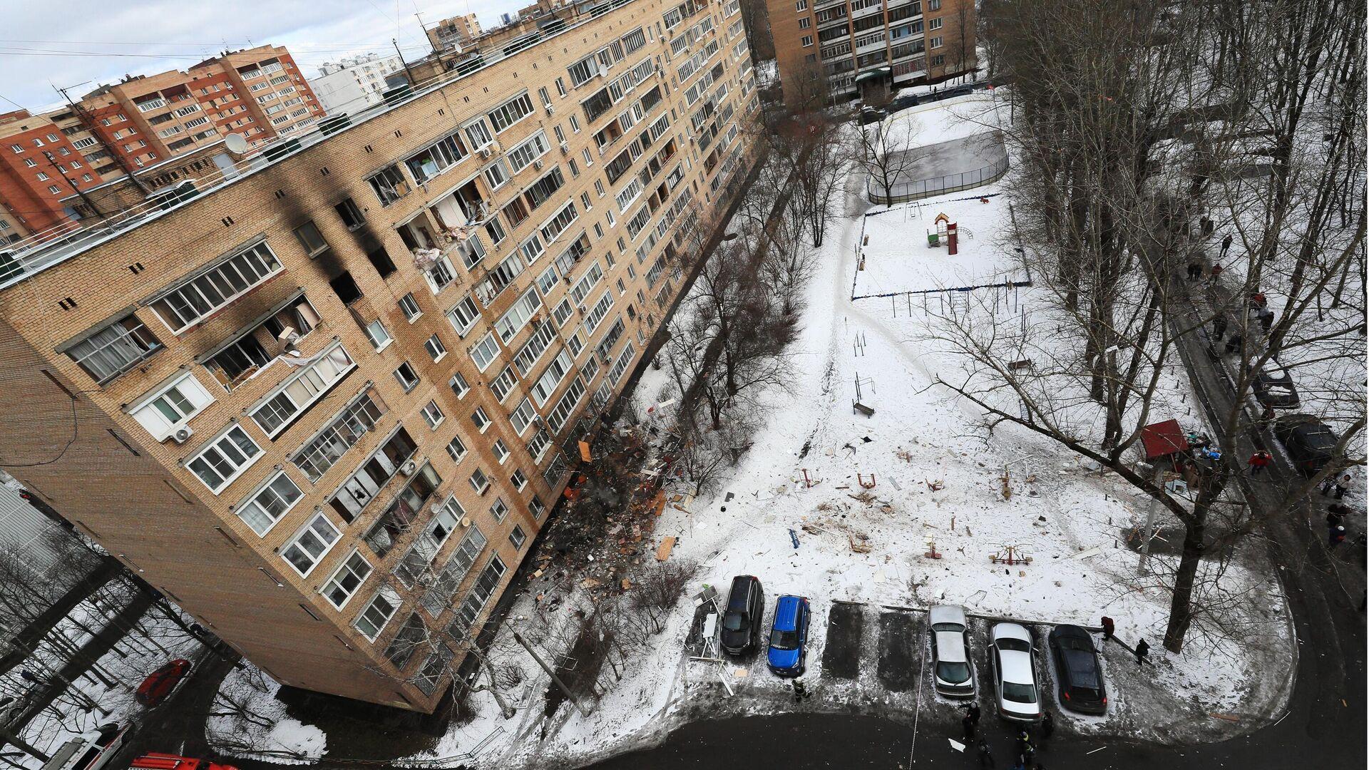 Последствия взрыва в жилом доме на улице Зеленой в Химках - РИА Новости, 1920, 23.03.2021