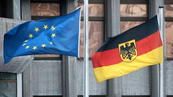 Флаги Германии и Евросоюза