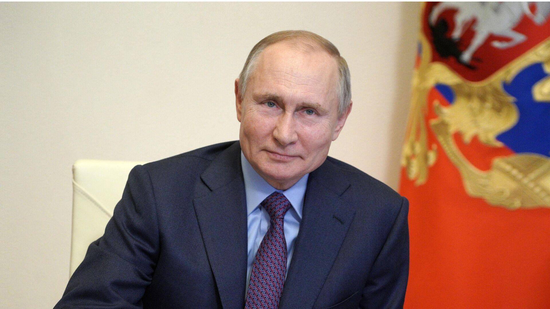 Президент РФ Владимир Путин проводит в режиме видеоконференции совещание по вопросам наращивания производства вакцин - РИА Новости, 1920, 22.03.2021