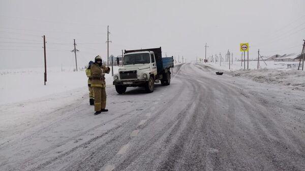 На месте ДТП в Зилаирском районе Республики Башкортостан