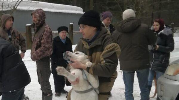 Леопольд с собакой