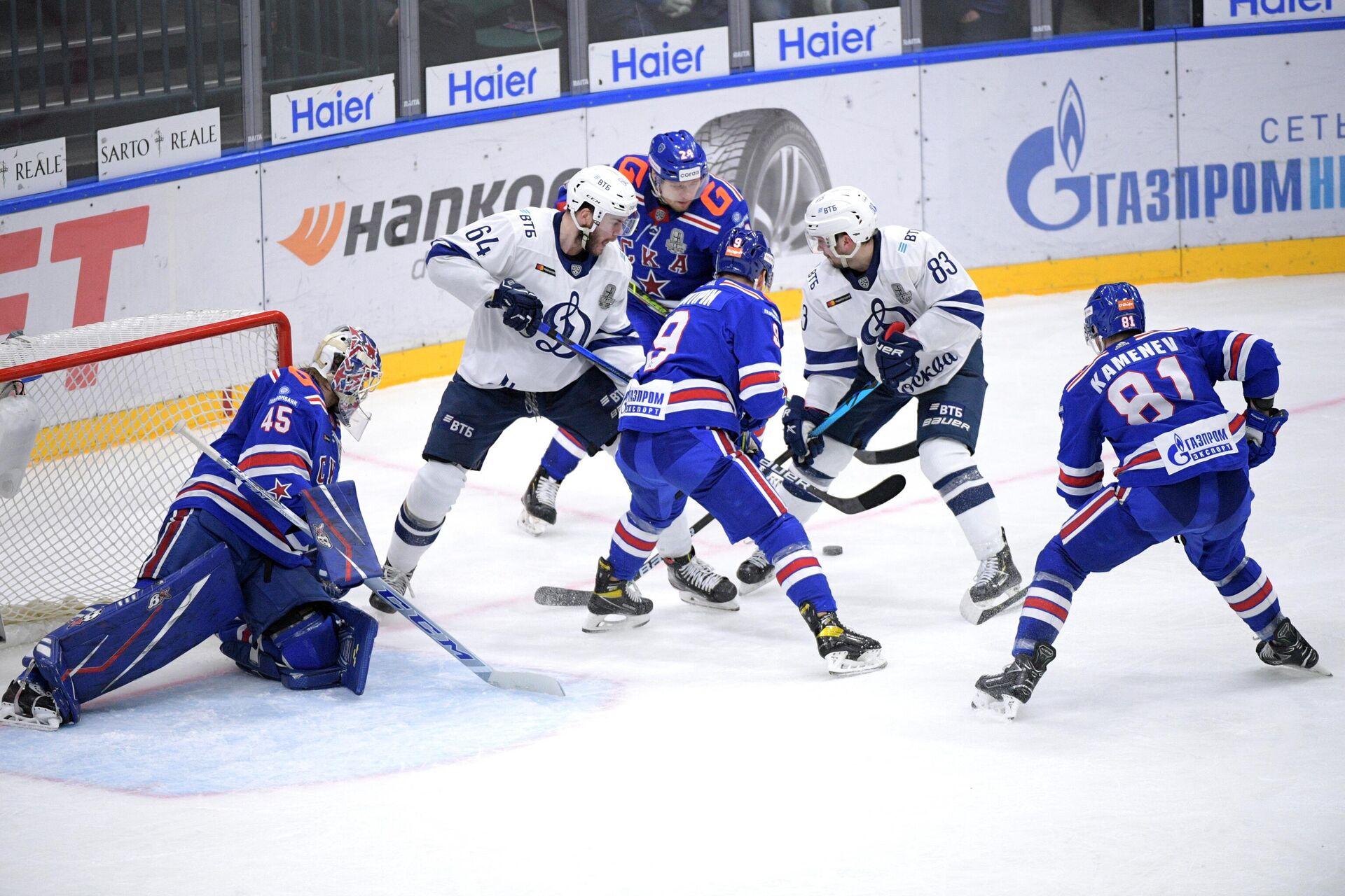 Игровой момент в матче между СКА и Динамо - РИА Новости, 1920, 30.03.2021