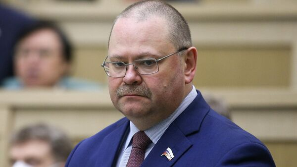 Временно исполняющий обязанности губернатора Пензенской области Олег Мельниченко на заседании Совета Федерации РФ