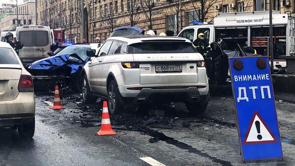 ДТП на Смоленской площади в Москве
