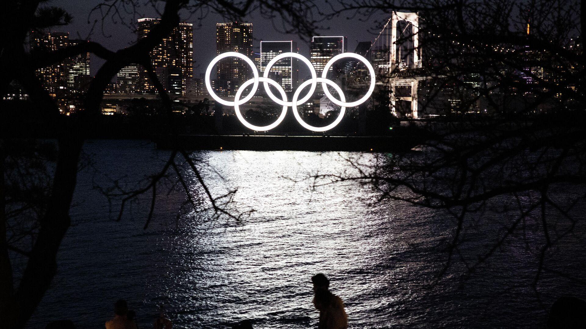 Олимпийские кольца в Токио - РИА Новости, 1920, 22.07.2021