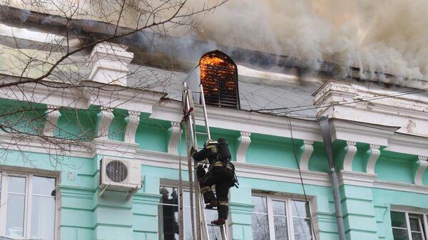 Пожар в кардиохирургическом центре в Благовещенске