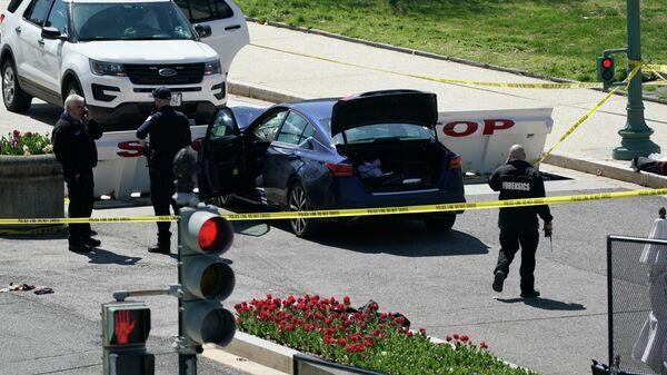Автомобиль, въехавший в полицейских на КПП Капитолия