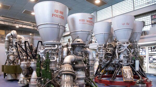 Двигатели РД-180 и РД-171 в музее предприятия Энергомаш