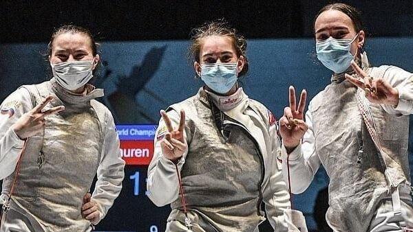 Победительницы чемпионата мира по фехтованию среди юниоров и кадетов