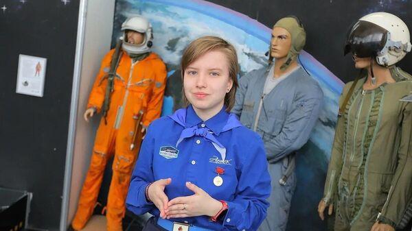 София Шакерова в музее космонавтики МДЦ Артек