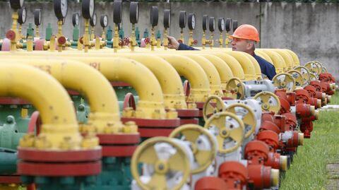 Сотрудник проверяет оборудование на Дашавском подземном хранилище газа в районе города Стрый под Львовом