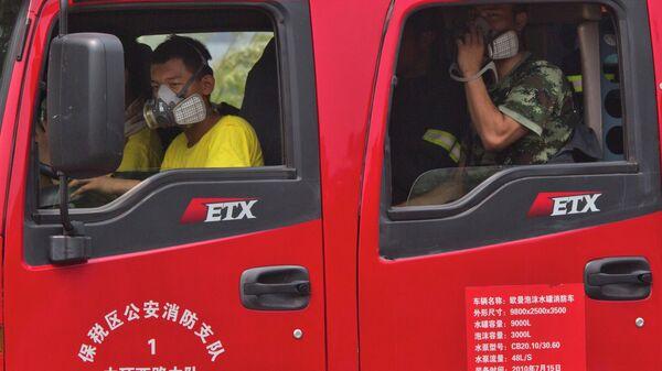 Пожарный расчет в Китае