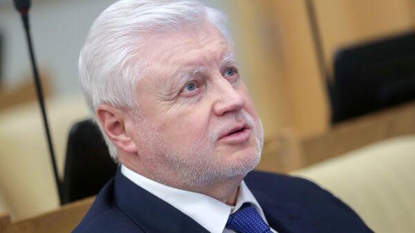 Руководитель фракции Справедливая Россия Сергей Миронов на пленарном заседании Государственной Думы РФ