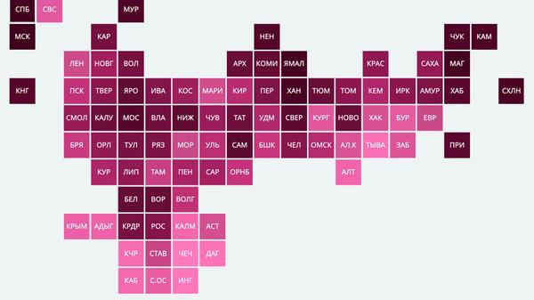 Рейтинг регионов по размеру банковских вкладов населения