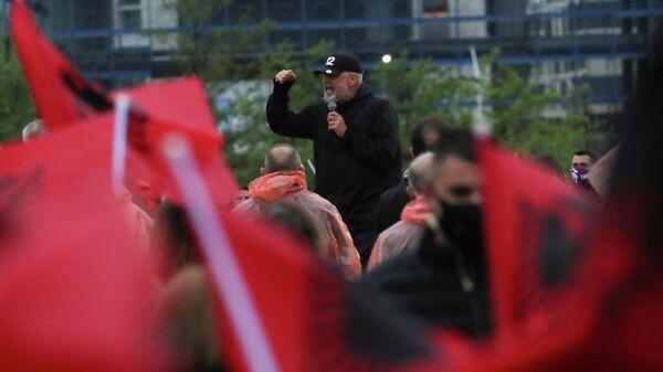 Лидер Социалистической партии Албании Эди Рама в Тиране