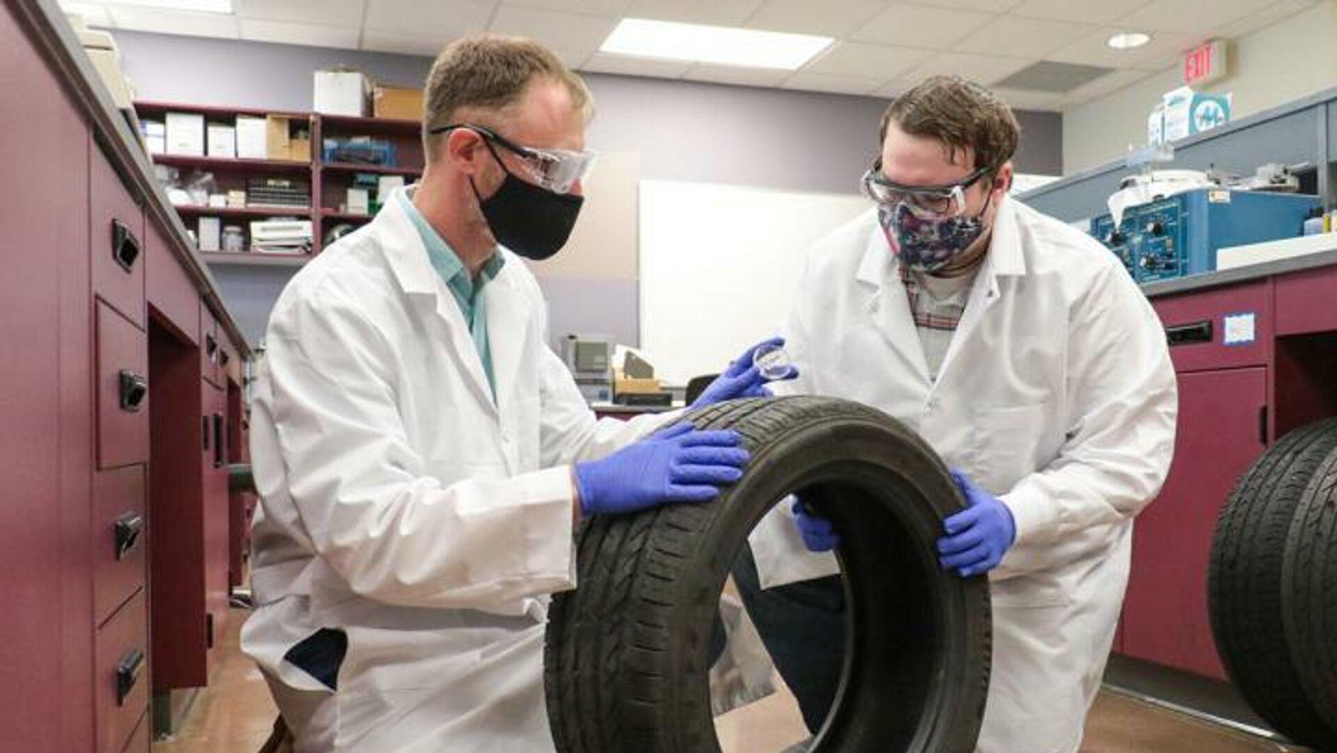 Ученые обнаружили уникальный химический след скольжения шины