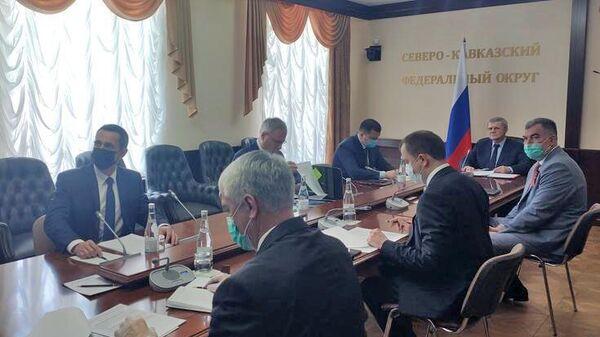 Заседание Совета при полномочном представителе Президента Российской Федерации в Северо-Кавказском федеральном округе в режиме видеоконференции