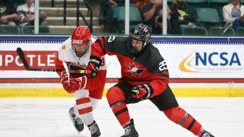 Финал юношеского чемпионата мира по хоккею между сборными России и Канады