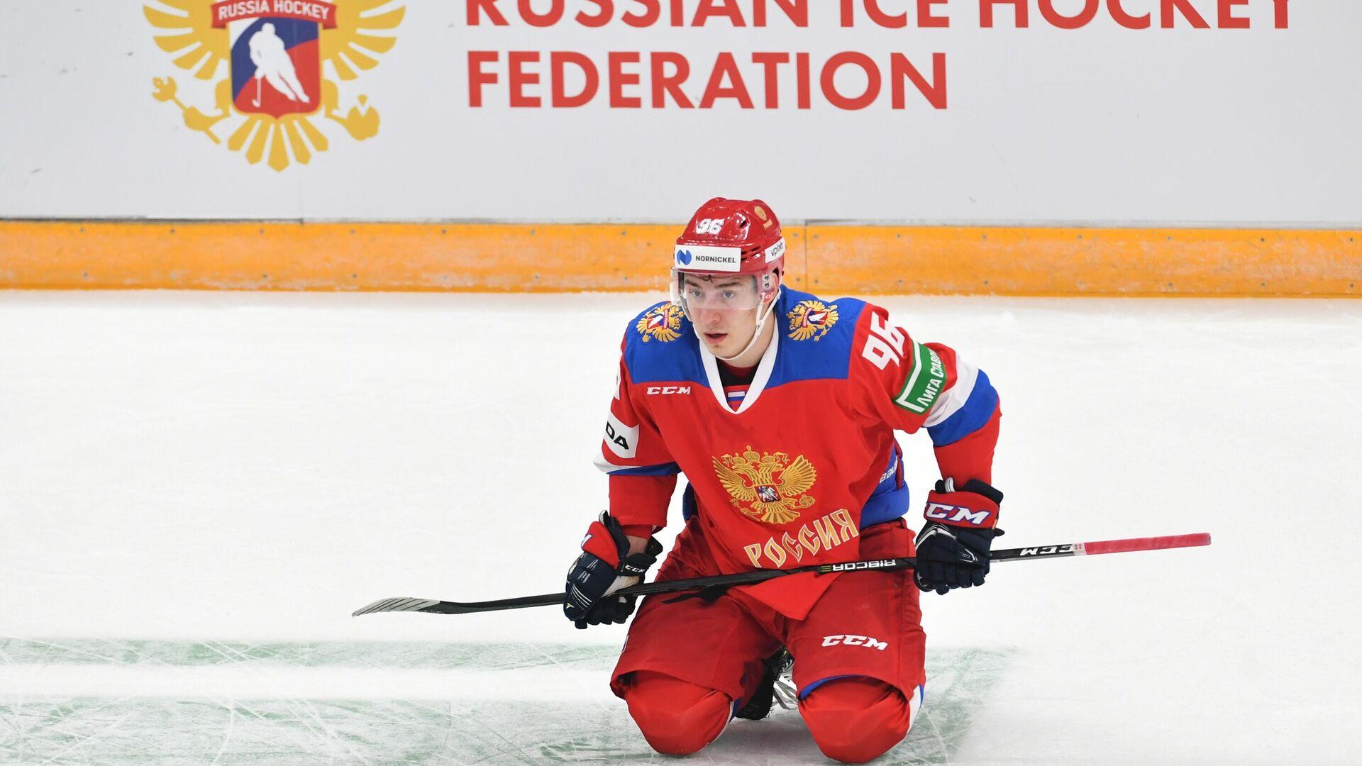 Нападающий сборной России Андрей Кузьменко - РИА Новости, 1920, 09.05.2021