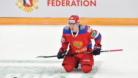 Нападающий сборной России Андрей Кузьменко