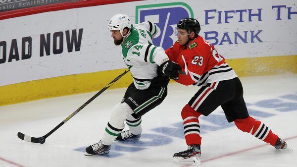 Матч НХЛ между Даллас Старз и Чикаго Блэкхокс