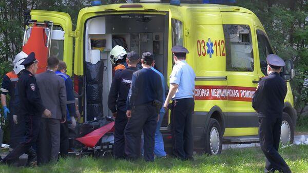 Ситуация у школы в Казани, где произошла стрельба