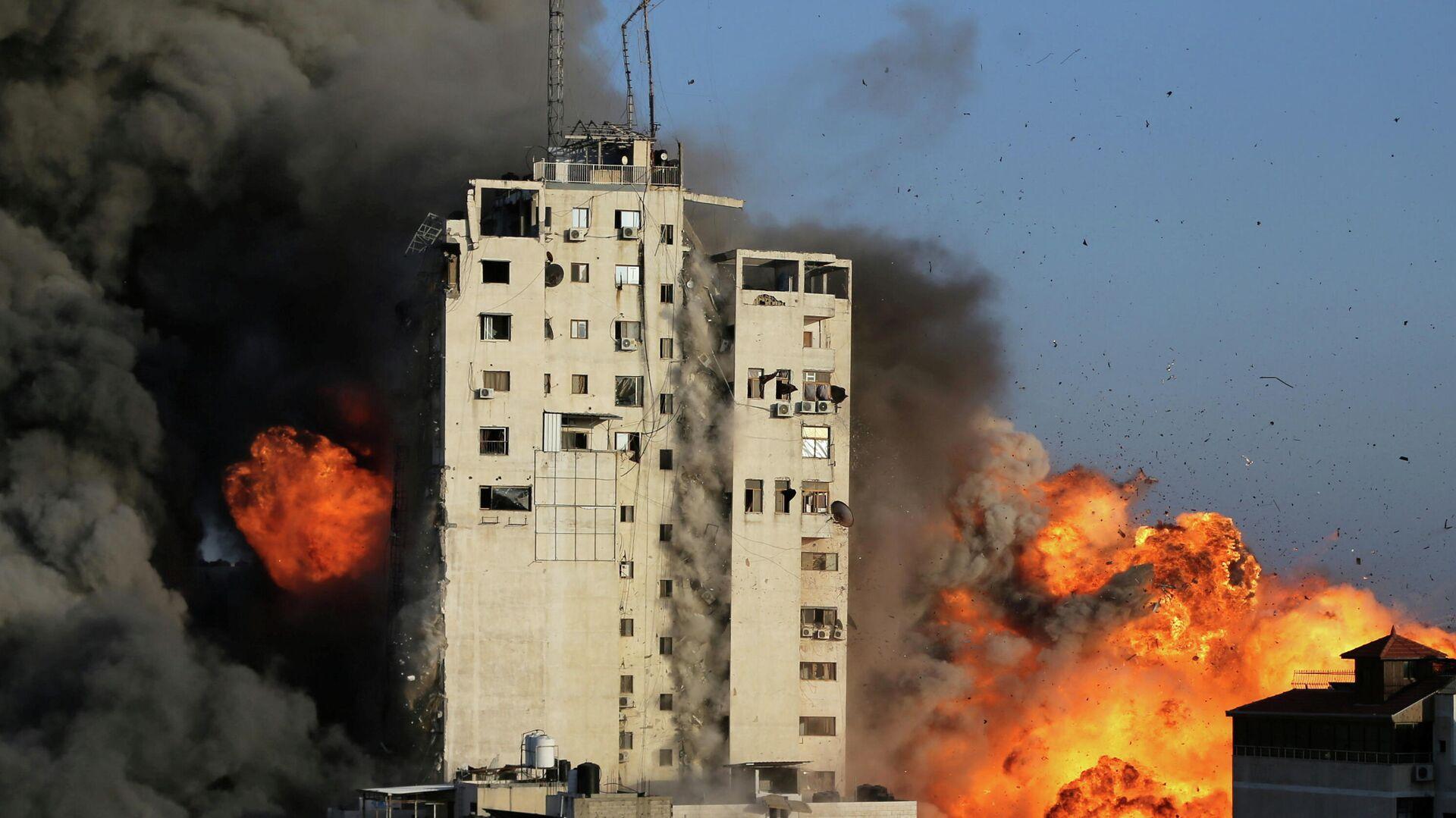 ВВС Израиля атаковали здание штаба внутренней безопасности ХАМАС