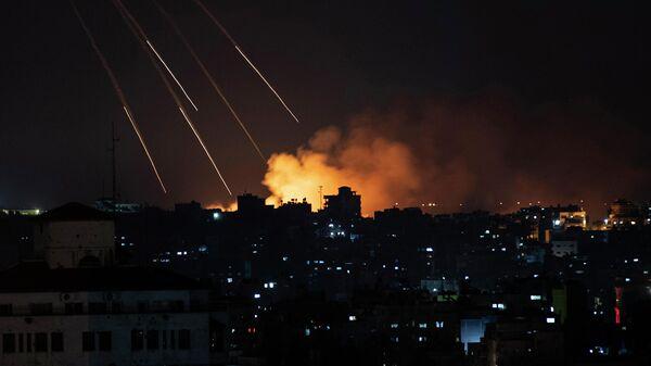 Ракетный удар Израиля по территории сектора Газа