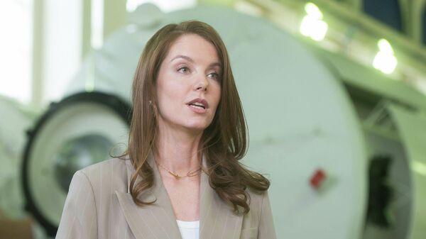 Актриса Алена Мордовина на пресс-конференции по итогам отбора кандидатов для съемок фильма Вызов
