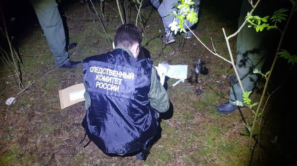 Следственные действия на месте убийства девочки в Балахнинском районе Нижегородской области