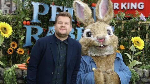 Британский актер Джеймс Корден на премьере фильма Кролик Питер