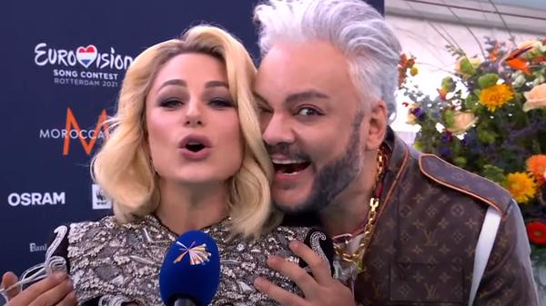 Филипп Киркоров и Наталья Гордиенко на открытии Евровидения